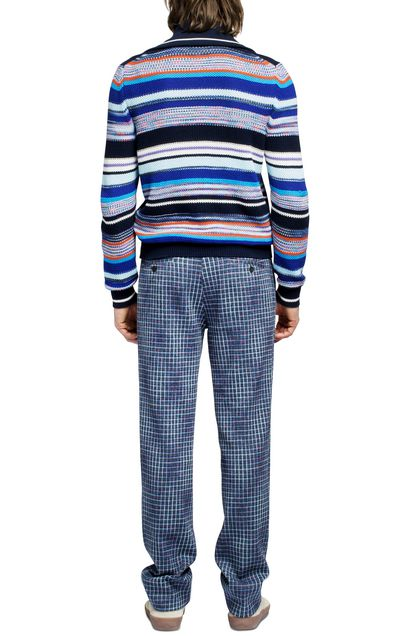 MISSONI Zip Jumper Dark blue Man - Front