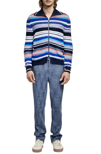 MISSONI Zip Jumper Dark blue Man - Back