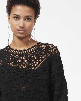 ISABEL MARANT LONG SLEEVE JUMPER Woman CAMDEN crochet jumper  r