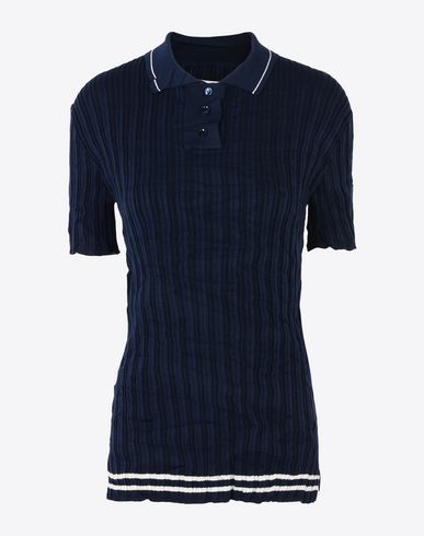 MAISON MARGIELA Polo sweater D Rib knit polo shirt f