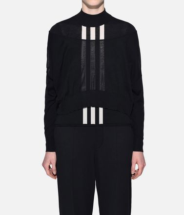 Y-3 Long sleeve sweater Woman Y-3 Layered Knitted Cropped Sweater r