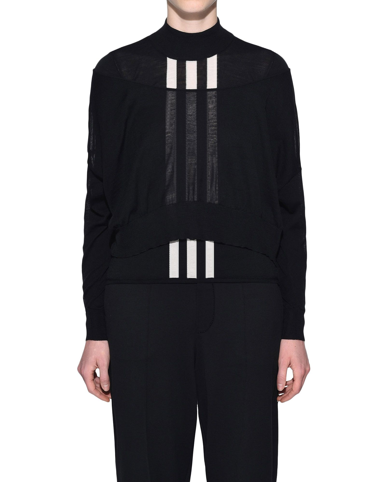 Y-3 Y-3 Layered Knitted Cropped Sweater Long sleeve jumper Woman r