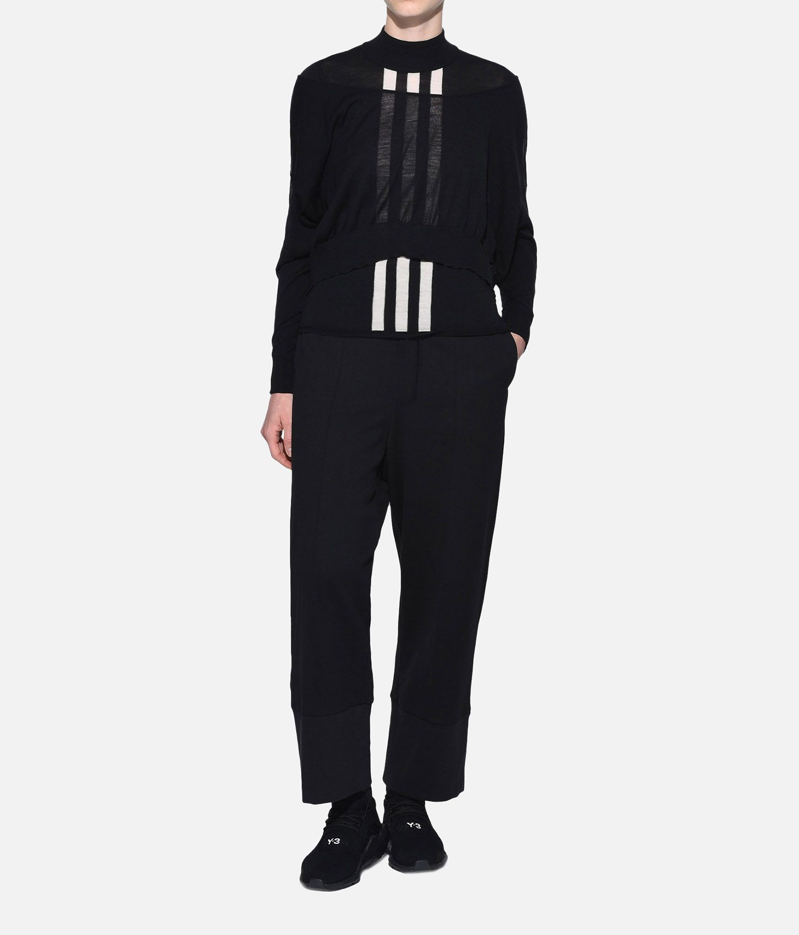 Y-3 Y-3 Layered Knitted Cropped Sweater Long sleeve sweater Woman a