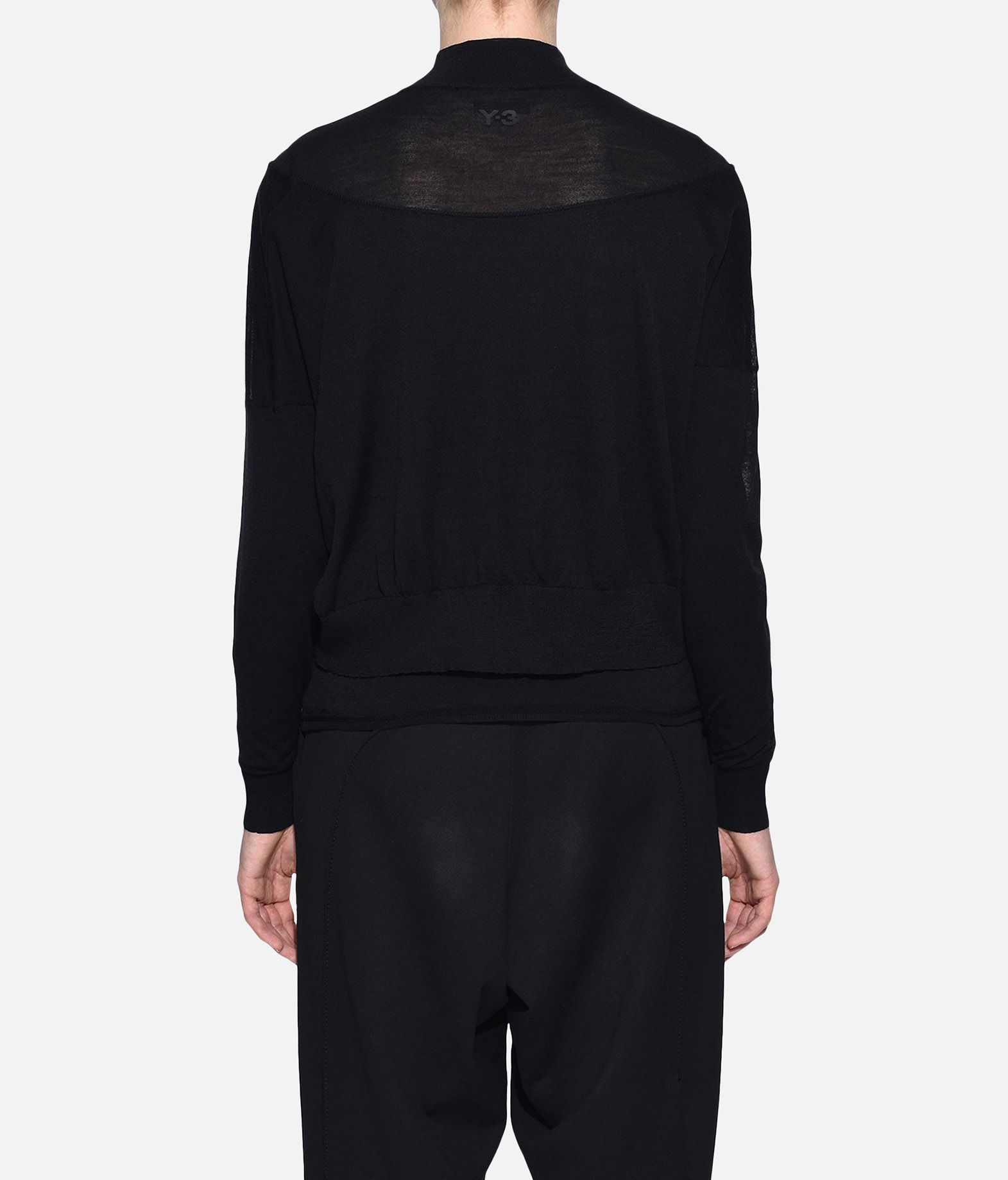 Y-3 Y-3 Layered Knitted Cropped Sweater Long sleeve jumper Woman d