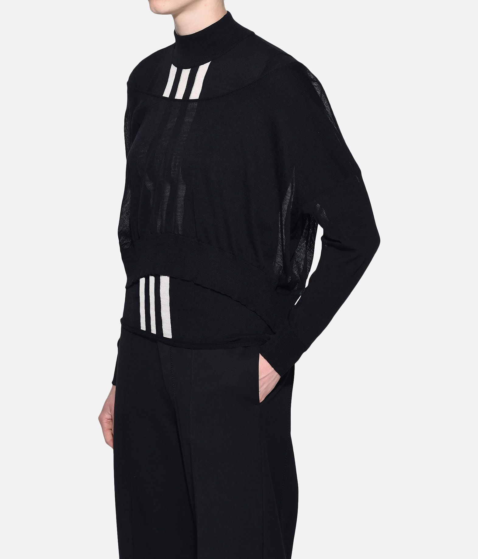 Y-3 Y-3 Layered Knitted Cropped Sweater Long sleeve jumper Woman e