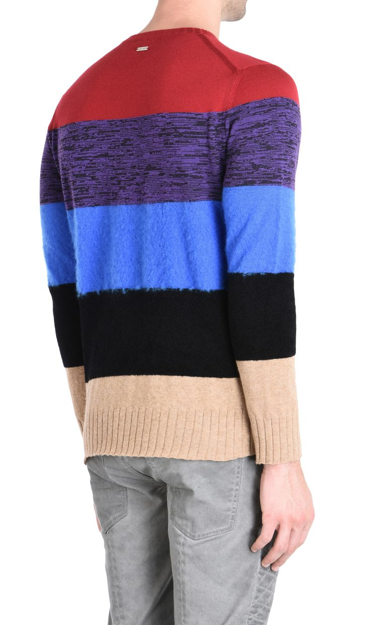JUST CAVALLI Maxi-stripe pullover Crewneck sweater Man d