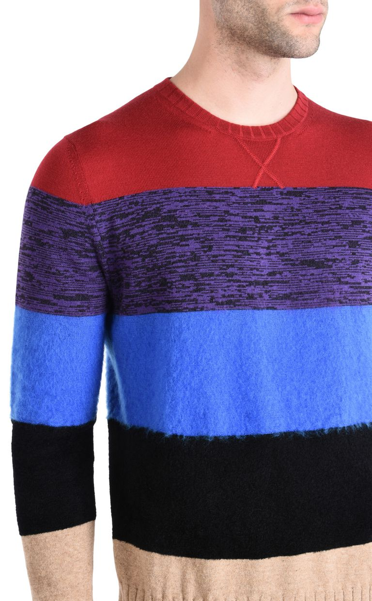 JUST CAVALLI Maxi-stripe pullover Crewneck sweater Man e