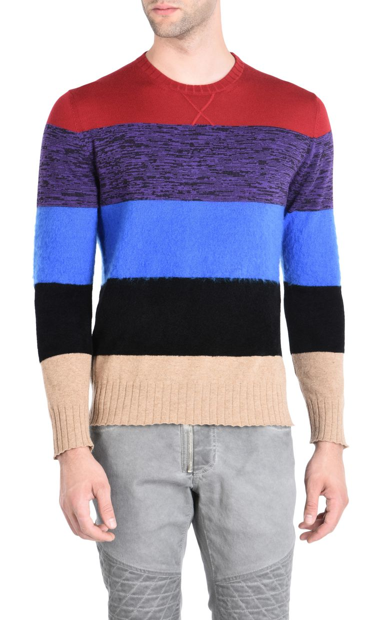 JUST CAVALLI Maxi-stripe pullover Crewneck sweater Man f