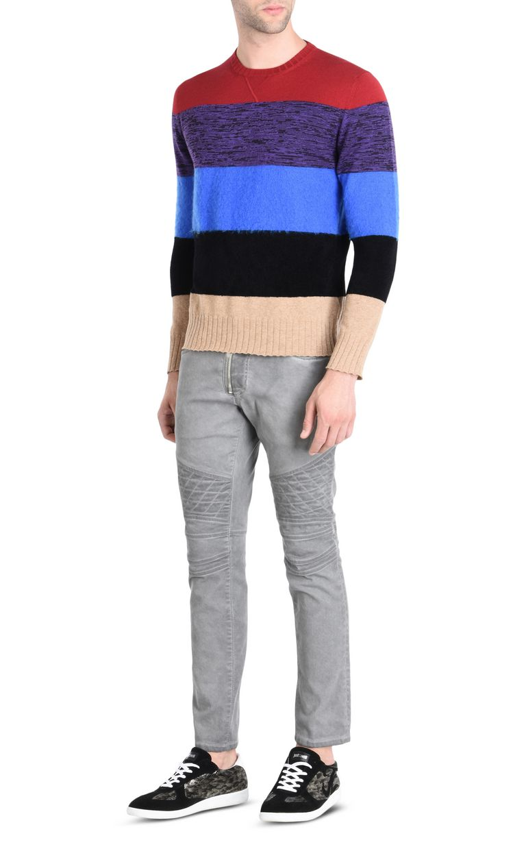JUST CAVALLI Maxi-stripe pullover Crewneck sweater Man r