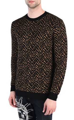 JUST CAVALLI Sweater [*** pickupInStoreShippingNotGuaranteed_info ***] Jacquard carpet pullover f
