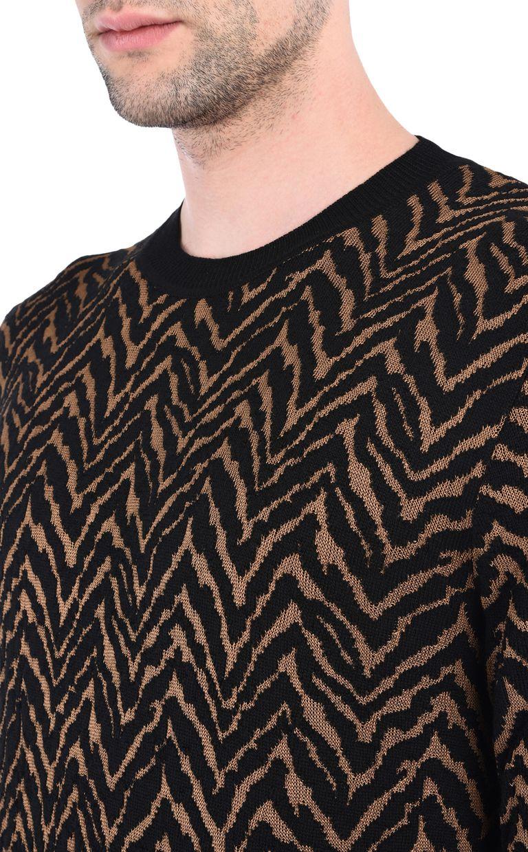JUST CAVALLI Crew-neck jacquard pullover Crewneck sweater [*** pickupInStoreShippingNotGuaranteed_info ***] e