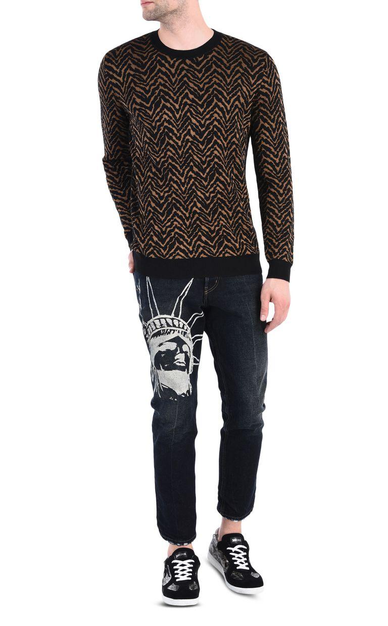 JUST CAVALLI Crew-neck jacquard pullover Crewneck sweater [*** pickupInStoreShippingNotGuaranteed_info ***] r