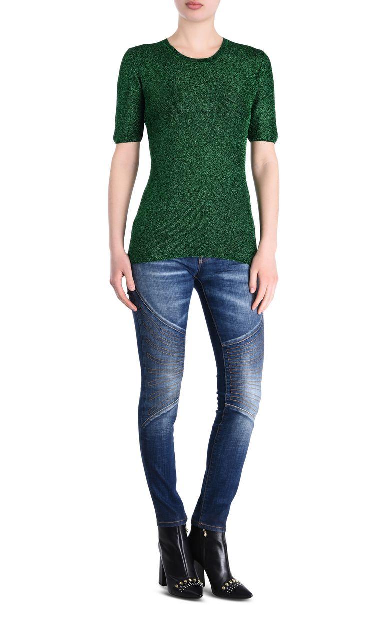 JUST CAVALLI Lurex T-shirt Short sleeve sweater [*** pickupInStoreShipping_info ***] r