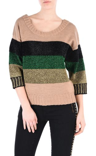 JUST CAVALLI Long sleeve sweater [*** pickupInStoreShipping_info ***] Carpet fringe pullover f