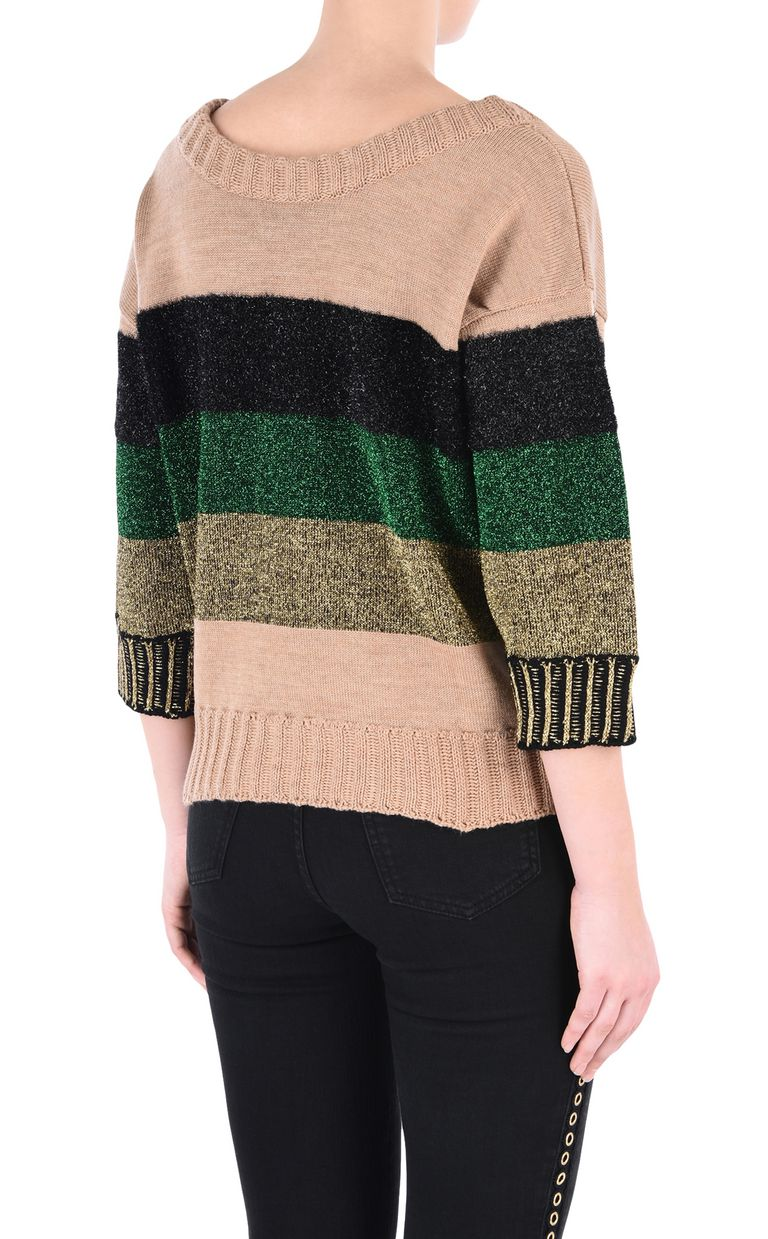 JUST CAVALLI Striped pullover Short sleeve sweater [*** pickupInStoreShipping_info ***] d