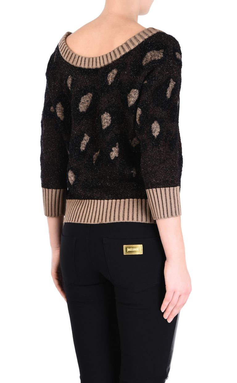 JUST CAVALLI Leopard-print pullover Short sleeve sweater Woman d