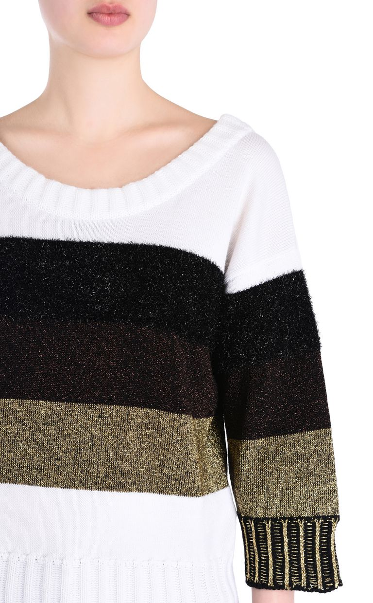 JUST CAVALLI Striped pullover Short sleeve sweater [*** pickupInStoreShipping_info ***] e