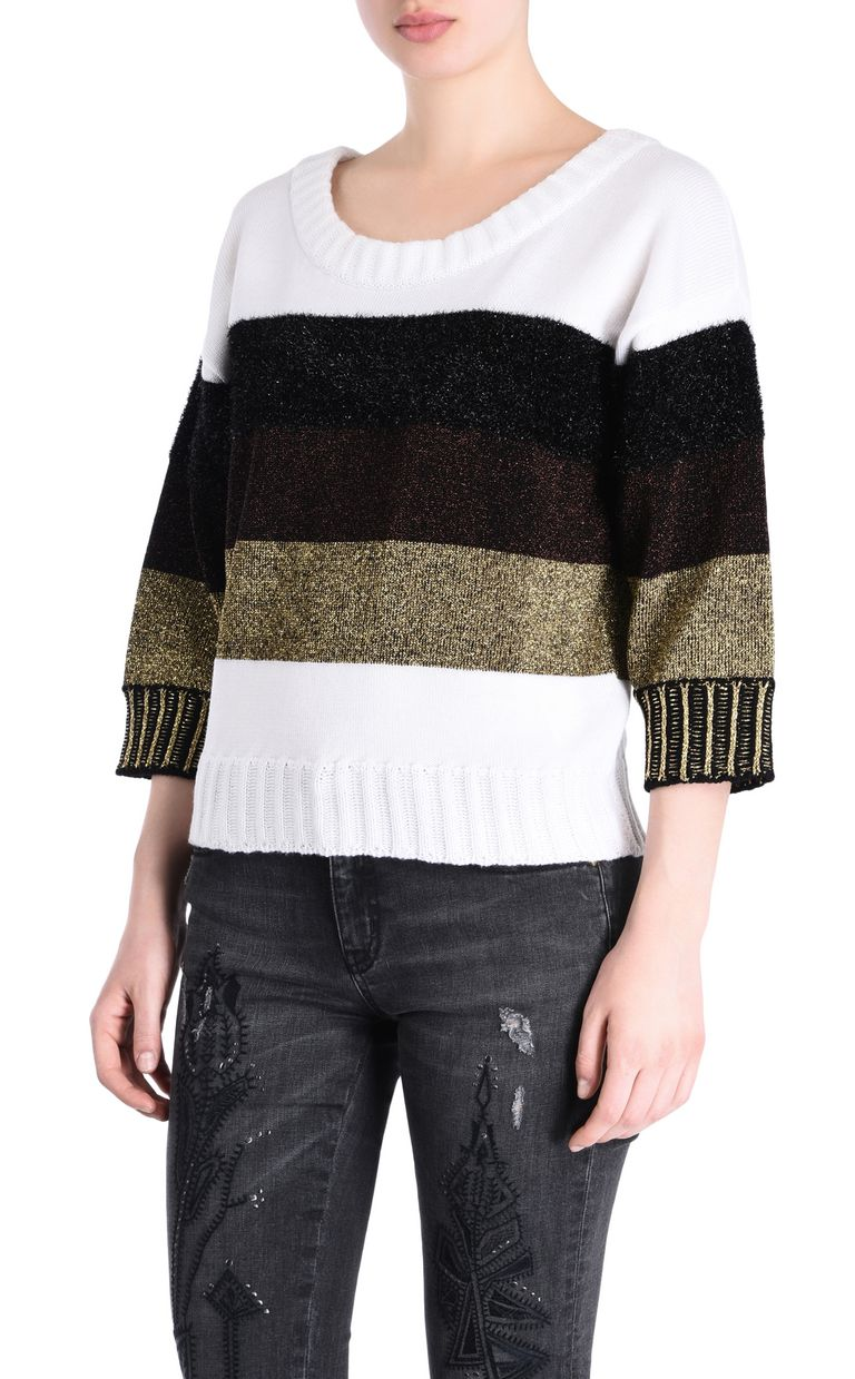 JUST CAVALLI Striped pullover Short sleeve sweater Woman f