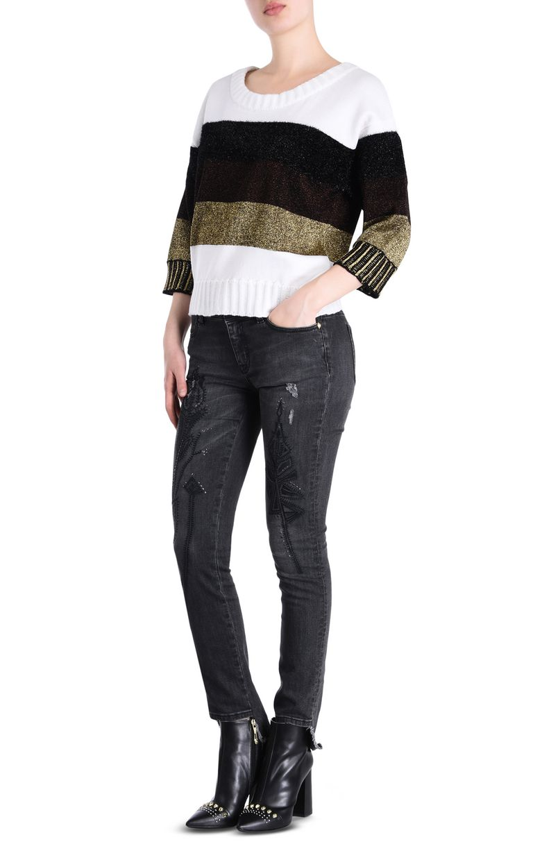 JUST CAVALLI Striped pullover Short sleeve sweater [*** pickupInStoreShipping_info ***] r