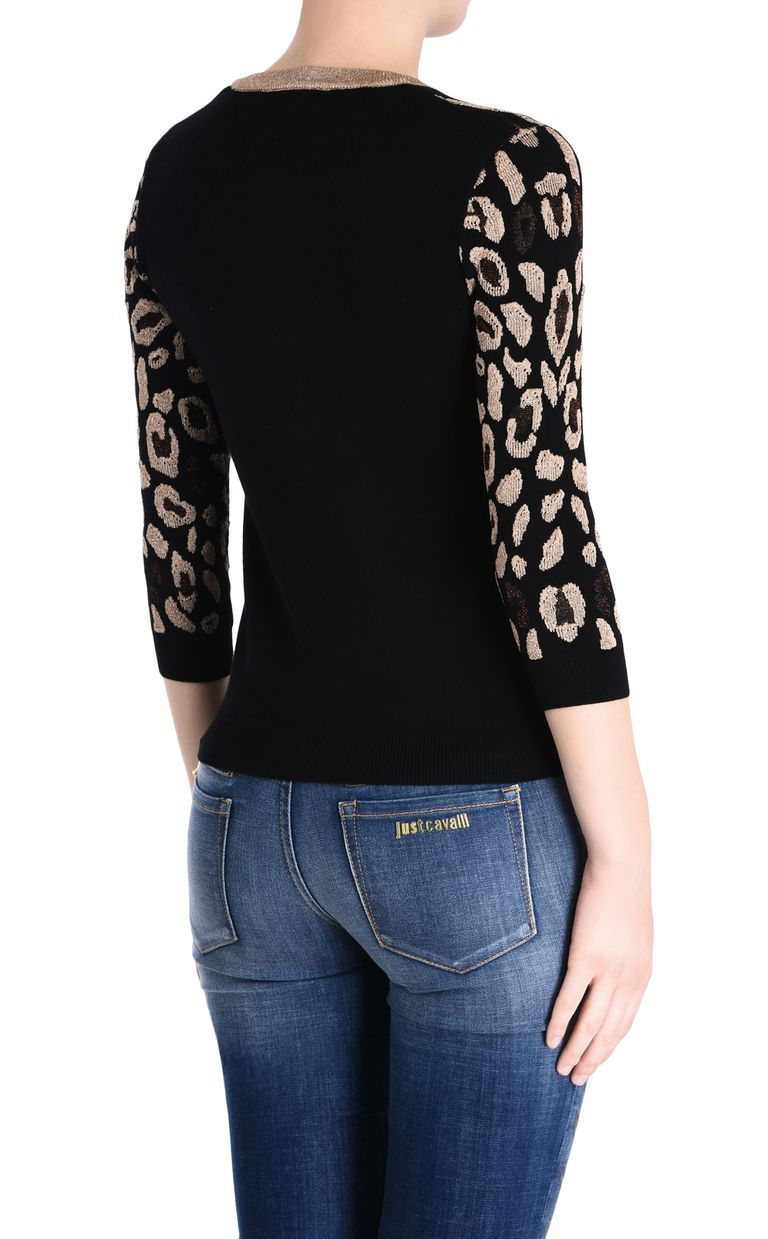 JUST CAVALLI Black cardigan with gold details Cardigan [*** pickupInStoreShipping_info ***] d