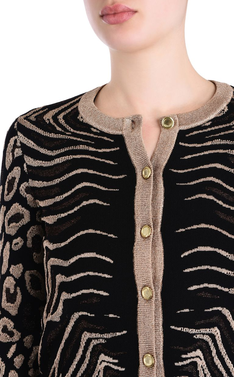 JUST CAVALLI Black cardigan with gold details Cardigan [*** pickupInStoreShipping_info ***] e
