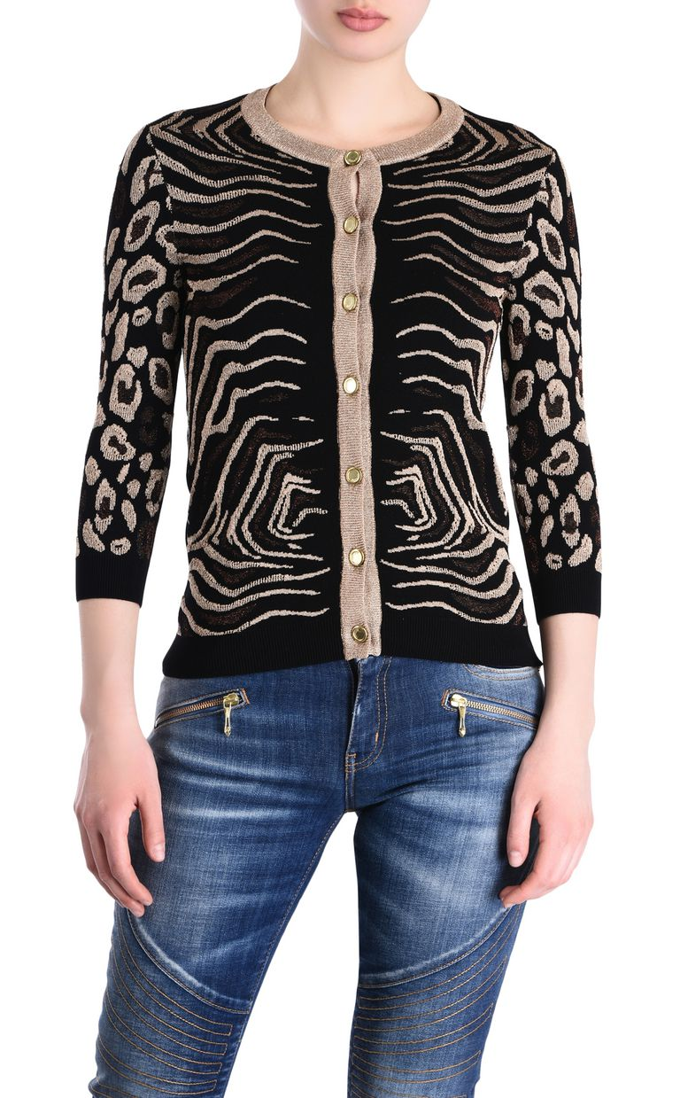 JUST CAVALLI Black cardigan with gold details Cardigan [*** pickupInStoreShipping_info ***] f