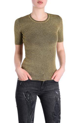 JUST CAVALLI Maglia maniche corte Donna T-shirt lurex  f
