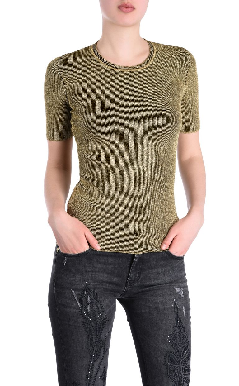 JUST CAVALLI Lurex T-shirt Short sleeve sweater [*** pickupInStoreShipping_info ***] f