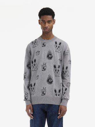 Pullover Girocollo Bunny Sticker
