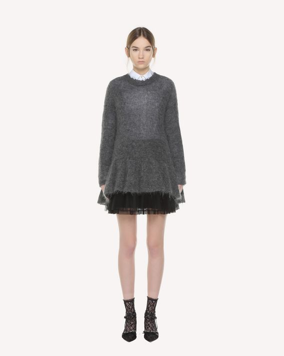 REDValentino Flounce detail Mohair sweater