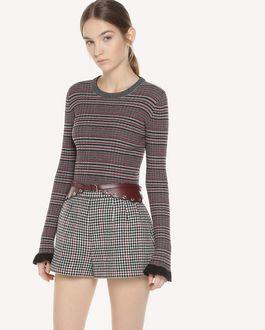 REDValentino 格纹图案羊毛毛衣