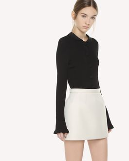 REDValentino Stretch viscose knit cardigan with button detail