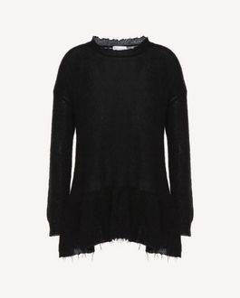 REDValentino Knit Sweater Woman QR3KC1C73WA 0NO a