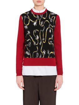 Marni Virgin wool sweater with Frank Navin print Woman
