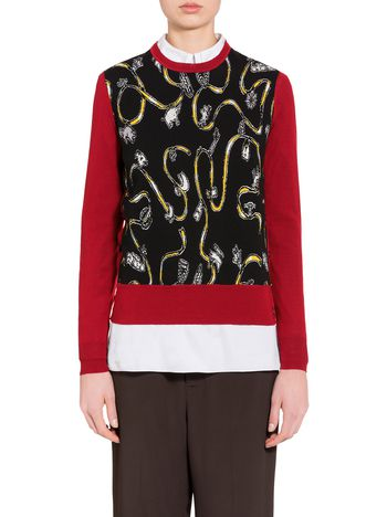 Marni Virgin wool sweater with Frank Navin print Woman
