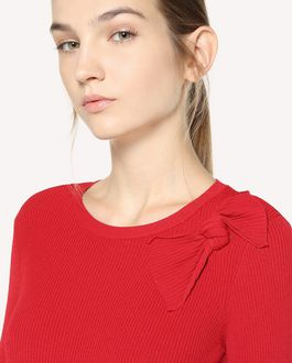 REDValentino Bow detail stretch viscose sweater