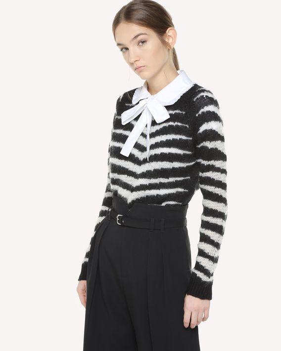 REDValentino Tiger jacquard wool sweater