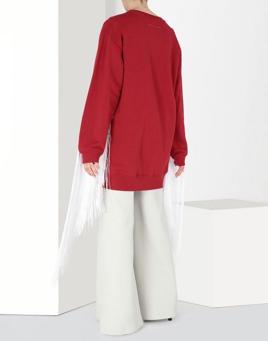 MM6 MAISON MARGIELA Fringed jersey sweatshirt Sweatshirt [*** pickupInStoreShipping_info ***] d