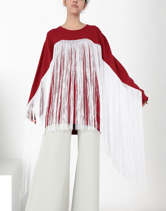 MM6 MAISON MARGIELA Fringed jersey sweatshirt Sweatshirt [*** pickupInStoreShipping_info ***] e