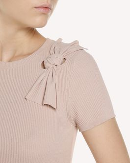 REDValentino Stretch viscose knit dress with bow detail