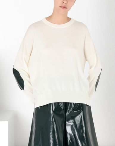 MM6 MAISON MARGIELA Long sleeve sweater Woman Pullover with laminated elbows patches f