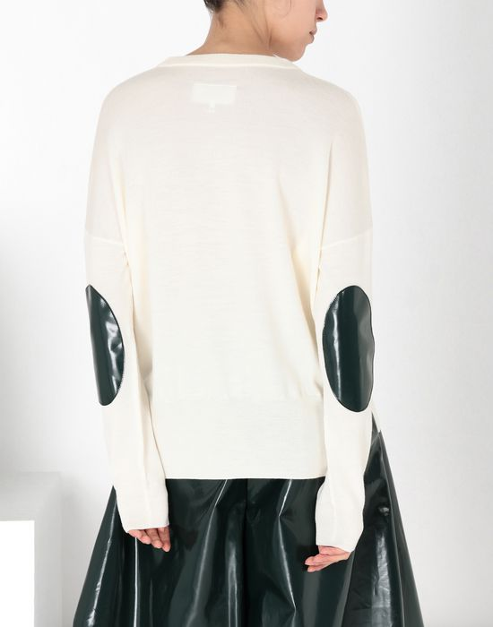 MM6 MAISON MARGIELA Pullover with laminated elbows patches Long sleeve sweater [*** pickupInStoreShipping_info ***] d