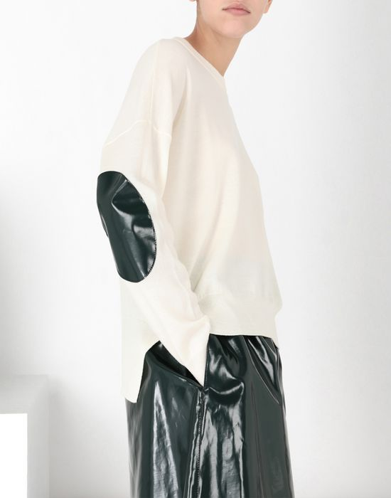 MM6 MAISON MARGIELA Pullover with laminated elbows patches Long sleeve sweater [*** pickupInStoreShipping_info ***] e