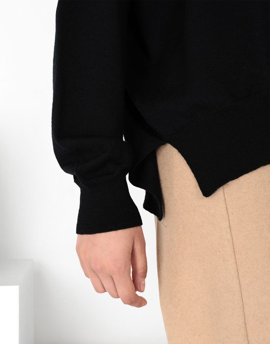 MM6 MAISON MARGIELA Laminated patched wool knit pullover Long sleeve sweater [*** pickupInStoreShipping_info ***] a