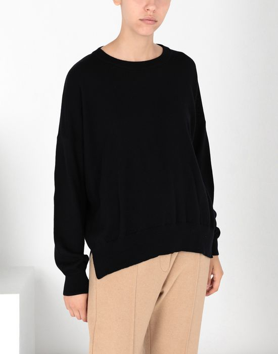 MM6 MAISON MARGIELA Laminated patched wool knit pullover Long sleeve sweater [*** pickupInStoreShipping_info ***] f