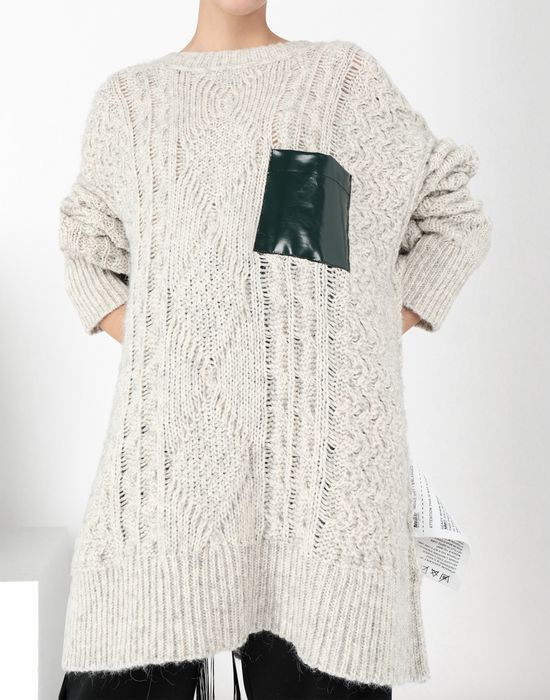 MM6 MAISON MARGIELA Oversized knitwear jumper Long sleeve sweater [*** pickupInStoreShipping_info ***] e