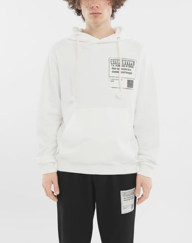 SWEATERS 'Stereotype' cotton sweatshirt White