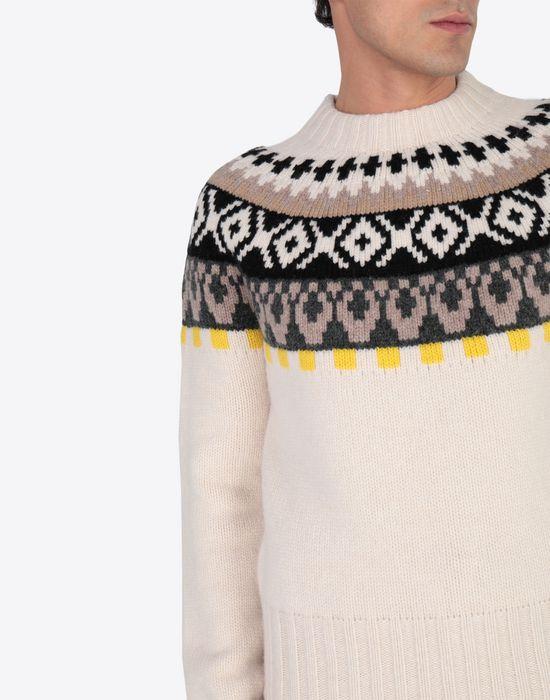 MAISON MARGIELA Printed wool sweatshirt Crewneck sweater [*** pickupInStoreShippingNotGuaranteed_info ***] a