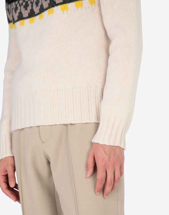 MAISON MARGIELA Printed wool sweatshirt Crewneck sweater [*** pickupInStoreShippingNotGuaranteed_info ***] b