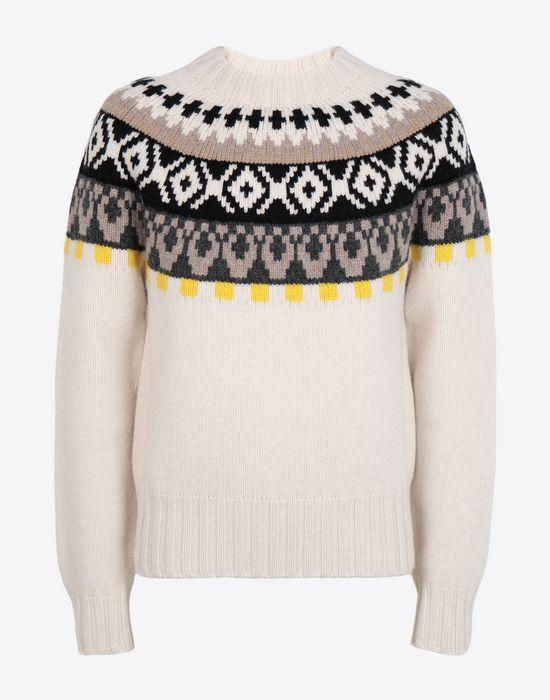 MAISON MARGIELA Printed wool sweatshirt Crewneck sweater [*** pickupInStoreShippingNotGuaranteed_info ***] f